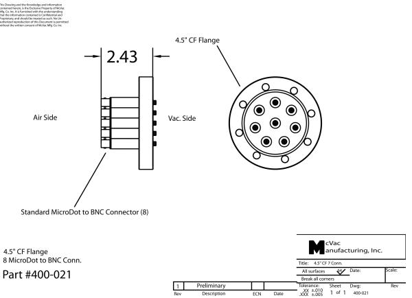 Sensor Feedthrough CF40; 4,5 in.