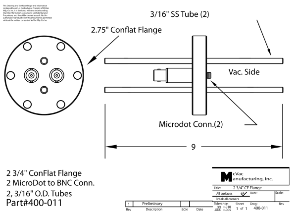 Sensor Feedthrough CF16