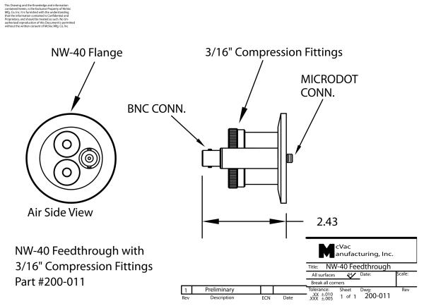 KF40 Sensor Head Feedthrough