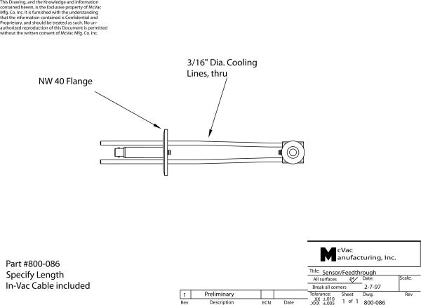 Standard Single Sensor - KF40 Flange