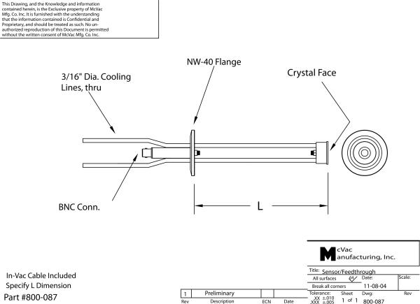 Right Angle Single Sensor/NW-40 Flange