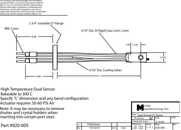 Bakeable Sensor Head on CF40