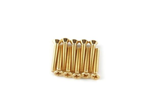 Maschinenschraube, 4-40 x 3/4, Gold-beschichtet