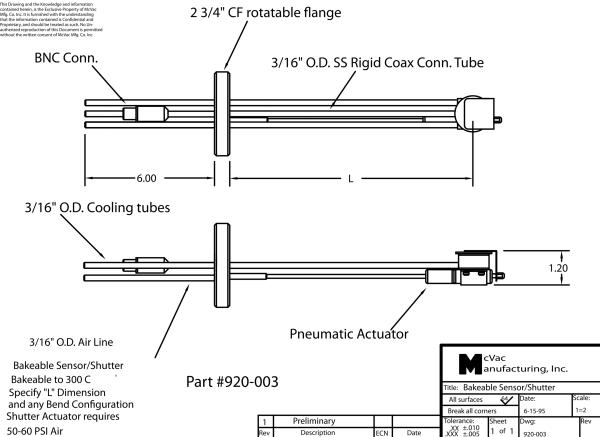 UHV Einfach-Messkopf mit CF40 Durchführung