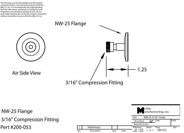 KF25 Sensor Head Feedthrough