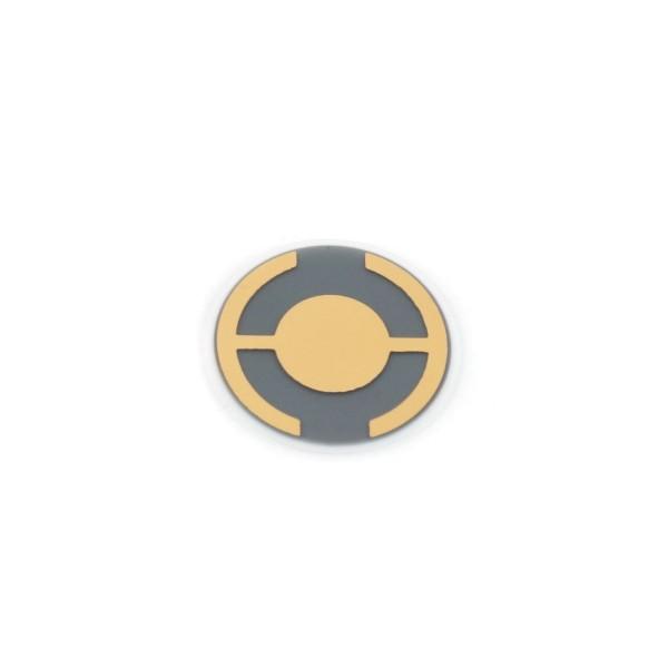 Quartz crystal 6 MHz, Gold, 14 mm