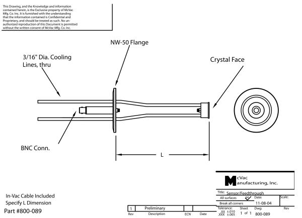 Right Angle Single Sensor/NW-50 Flange