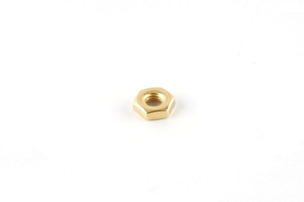 Nut, hex, 10-32, gold plated