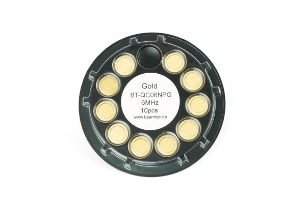Quarz 6 MHz, Gold, 14 mm